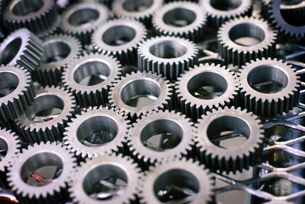 Gears for remanufactured starters at the SRC Electrical facility on Sunshine in Springfield, Mo. on Nov. 22, 2016. Photo by Brad Zweerink.