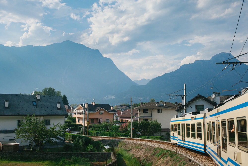 The Centovalli railway in Domodossola, Italy