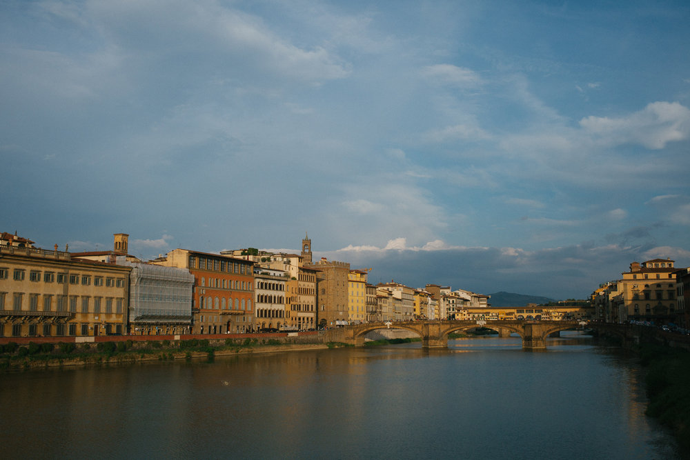 The Arno River in Florence, Italy