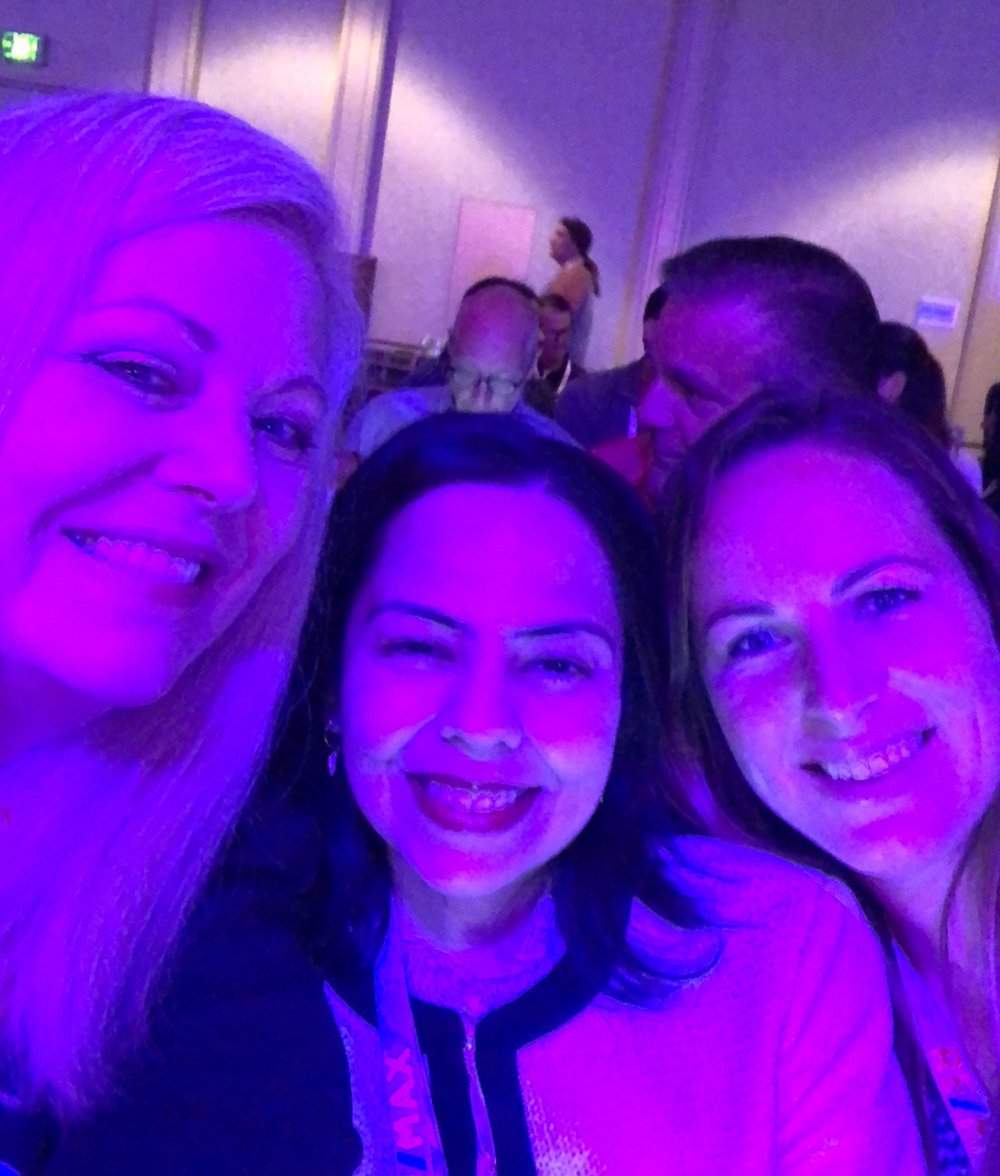 Inman Connect 2018 - In the purple light of the main ballroom with my new agent friends from Danville and Hawaii!