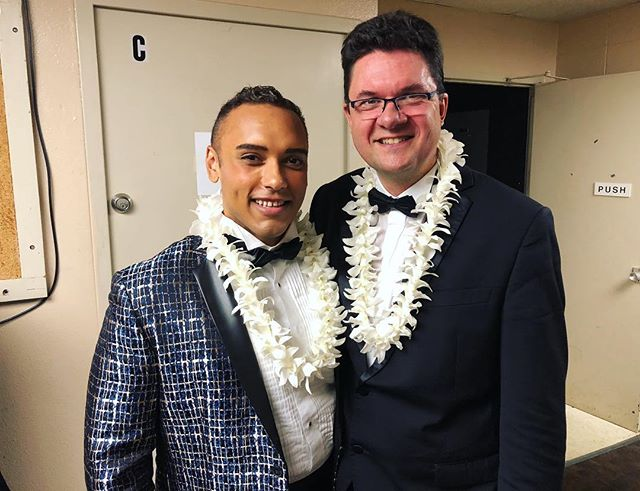 With maestro Emmanuel Plasson at @hawaiioperatheatre 's roméo et Juliette opening night!