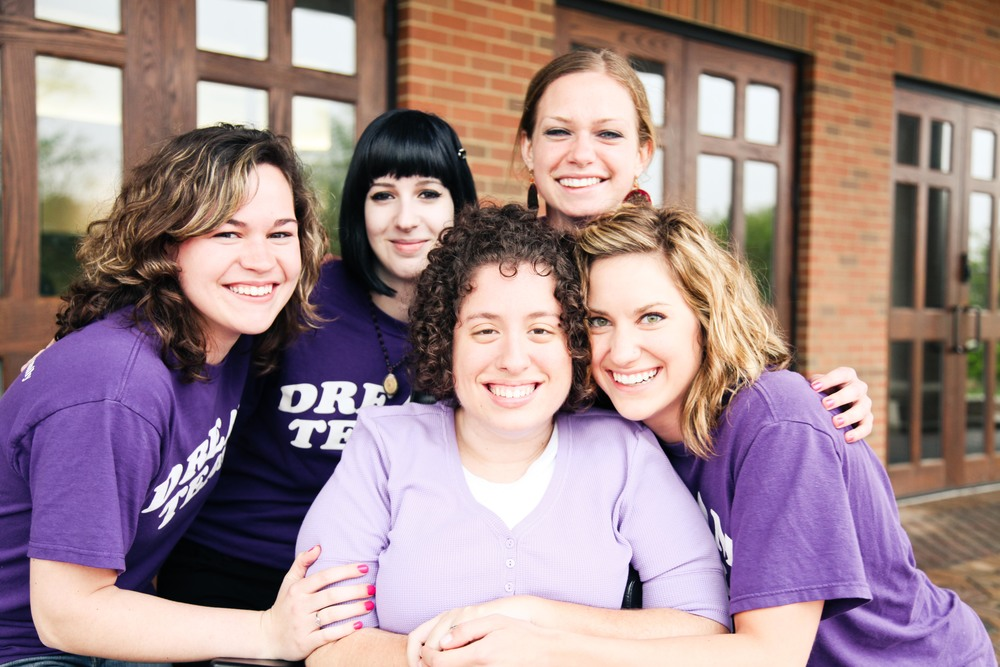May 2011 Emily with a few of her Amazing Dream Team members at Cedarville University