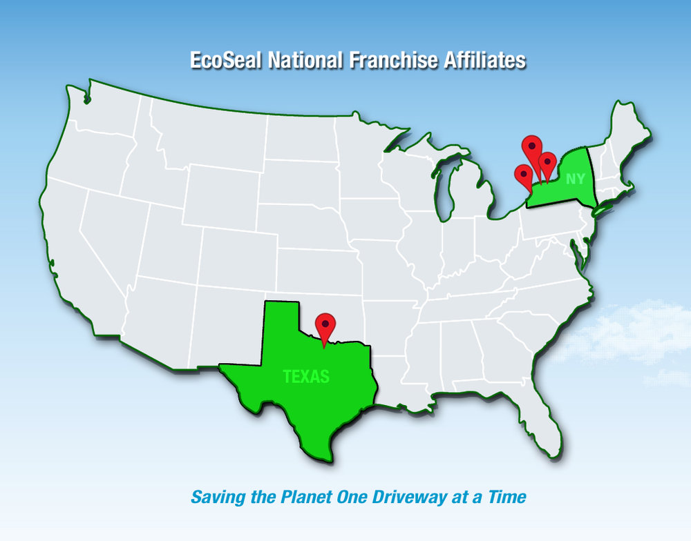 Become an EcoSeal® Affiliate today  Join our growing number of national affiliates and help us   Save the Planet One Driveway at a Time!   We provide all the materials for instant national brand recognition and support to help you join an eco-friendly network of pavement specialists!  For complete details email us at:   info@ecoseal.net   Check out the online kit:   EcoSeal® Franchise Marketing Kit