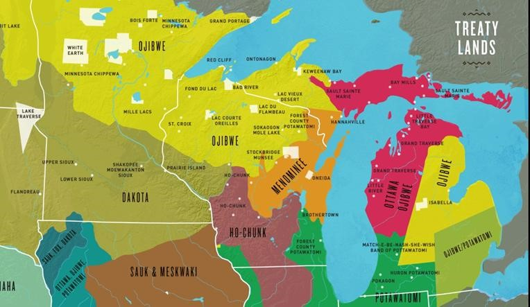 The Ways Map: Central Great Lakes c.1800 & Today