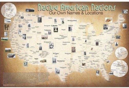 1941 CENSUS: NATIVE NATIONS MAP OF TURTLE ISLAND    NATIVE AMERICAN NATIONS MAP BY   AARON CARAPELLA