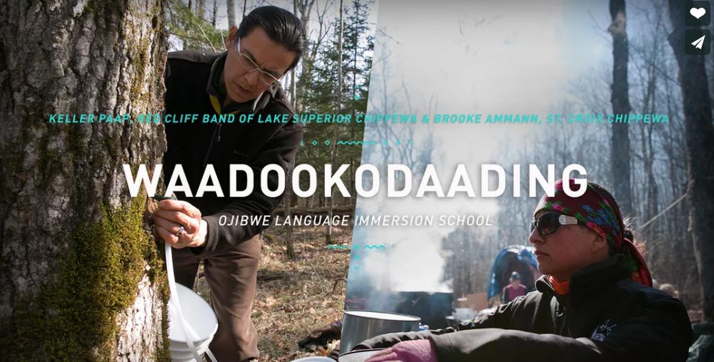 Waadookodaading  ~  Keller Paap - Red Cliff Band of Lake Superior Chippewa and Brooke Ammann - St. Croix Chippewa