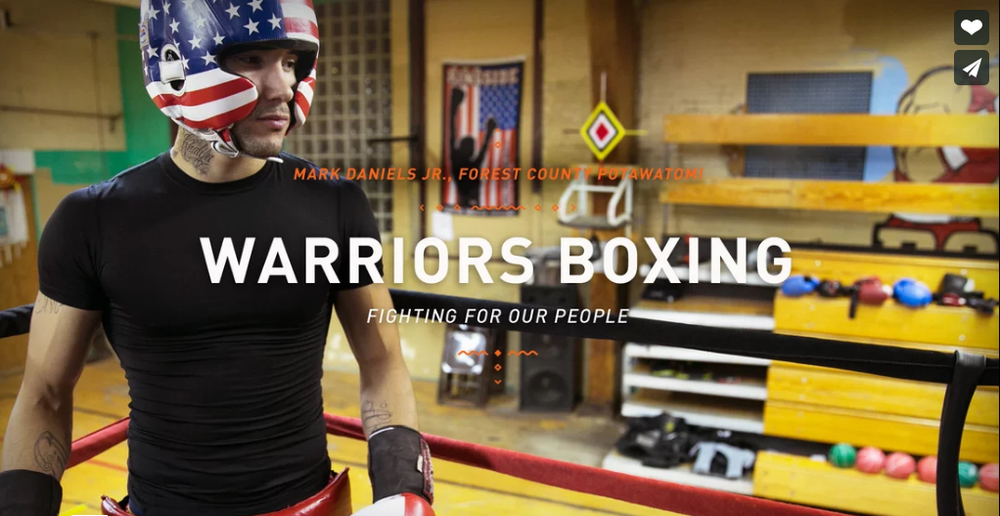 Warriors Boxing  ~  Mark Daniels, Jr., Forest County Potawatomi