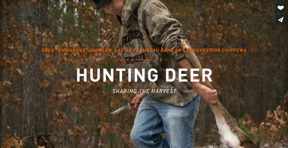 """Hunting Deer  ~  Greg """"Biskakone"""" Johnson - Lac du Flambeau Band of Lake Superior Chippewa"""