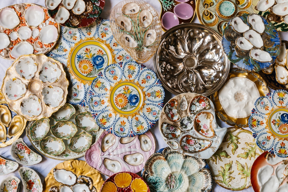 Oyster Plate Collection - Linda Peterson's collection, Featured in Garden & Gun Magazine