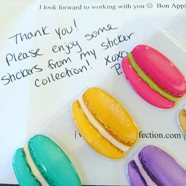 #tbt to receiving sweet treats in the mail earlier this week. Merci beaucoup, @bqboo !wait to make some #macbabies for you 😊 #grateful #macarons