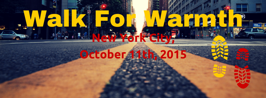 Walk For Warmth, New York City, October 11th 2015