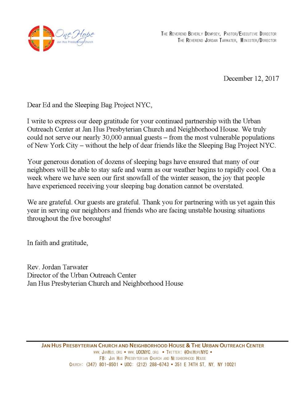 thank you letter Jan Hus Presbyterian Church.jpg