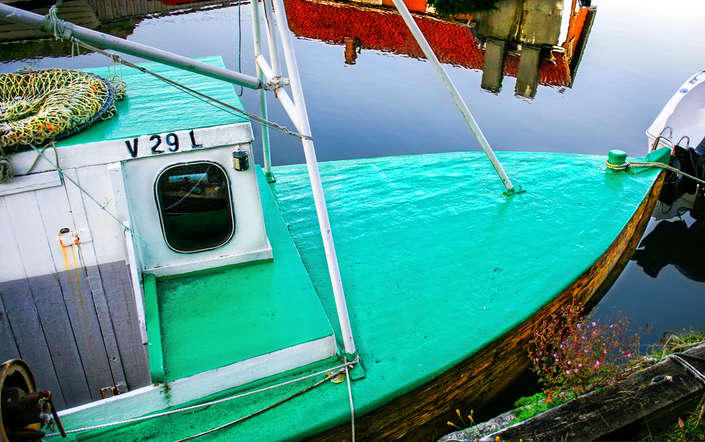Fiskebåtene er et flott syn i Nevlunghavnns havneområde