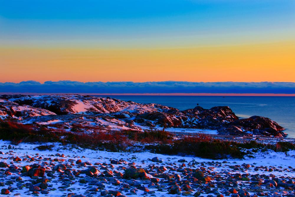 Magisk natur . Utsikt fra rullesteinsraet mot Saltsteins lavafjell.