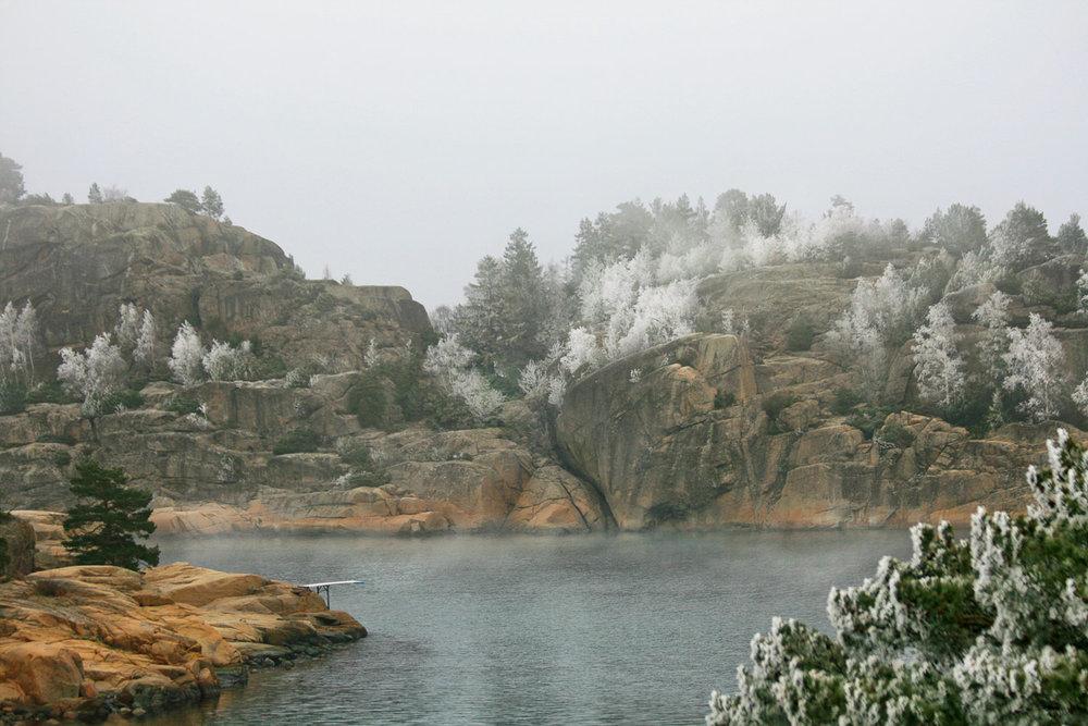 Kyst i førjulsstemning - Rimfrosten skapte julestemning i Vestfold.