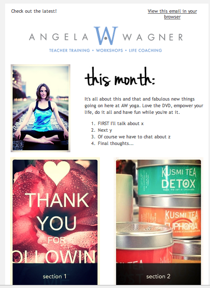 Monthly Newsletter Email