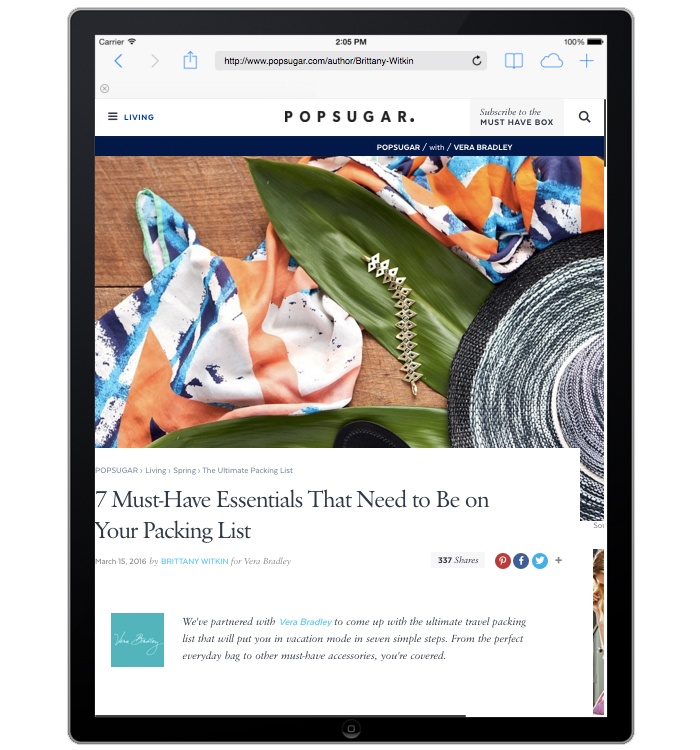 Popsugar.com Integrated Marketing