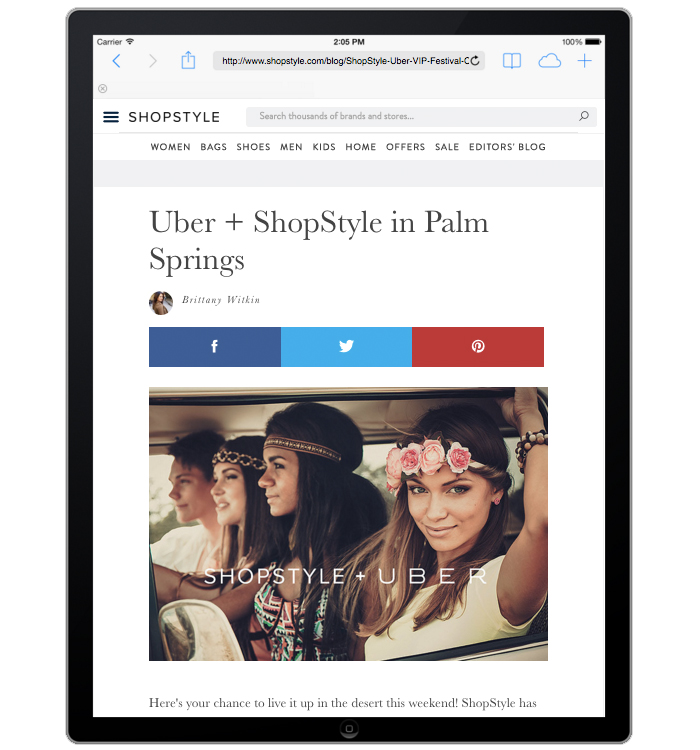 Shopstyle.com Integrated Marketing