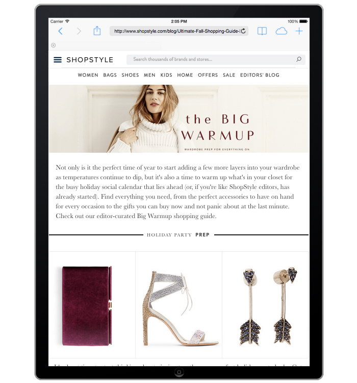 Shopstyle.com Ultimate Fall Shopping Guide