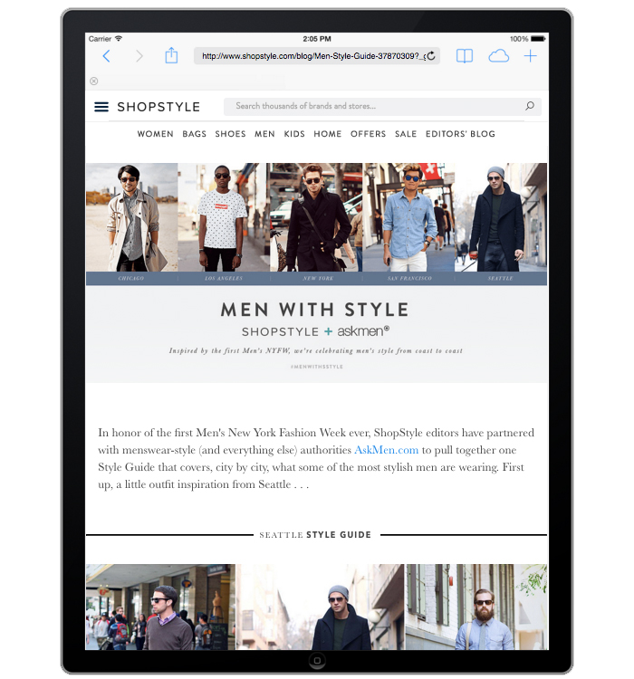 Shopstyle.com + AskMen Integrated Marketing