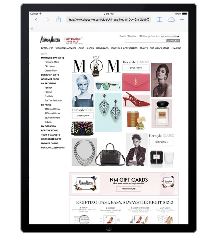 NeimanMarcus.com Site Merchandiser- Gifts