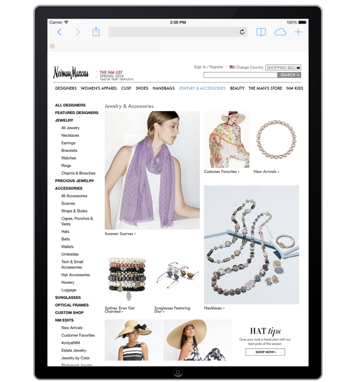 NeimanMarcus.com Site Merchandiser- Jewelry/Accessories