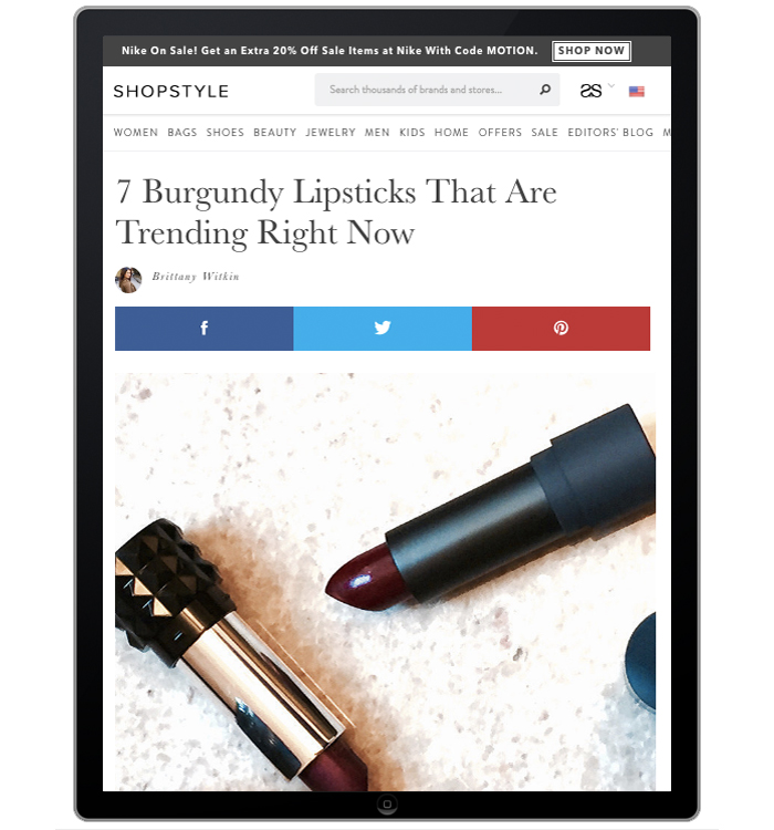 Shopstyle.com Fall Trend Report-Beauty