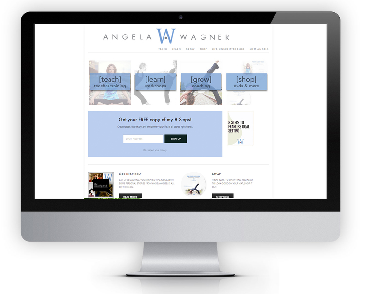 www.angelawagneryoga.com | Personal Branding & Coaching Website