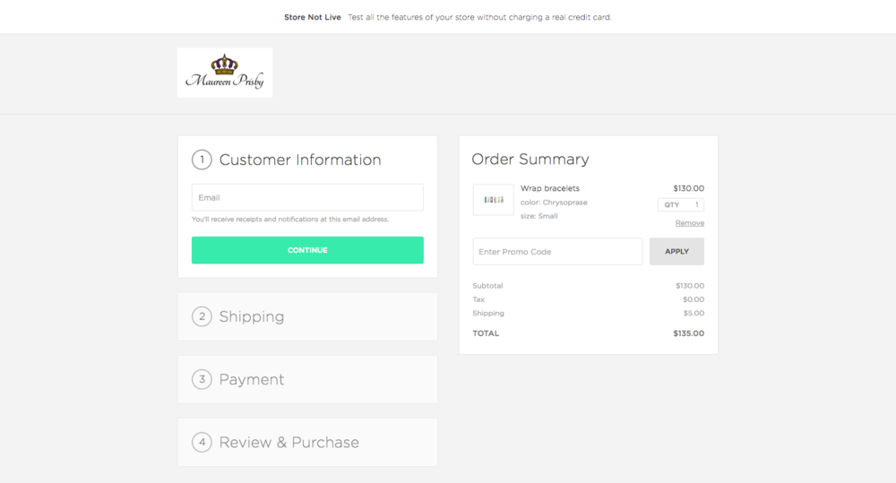 After- Custom Checkout Page