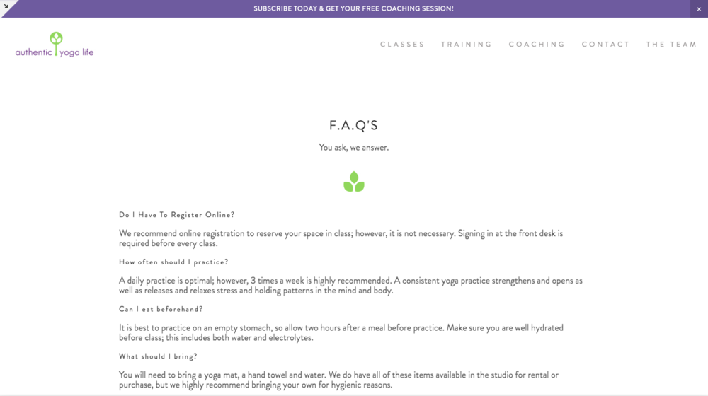 After- FAQ Page