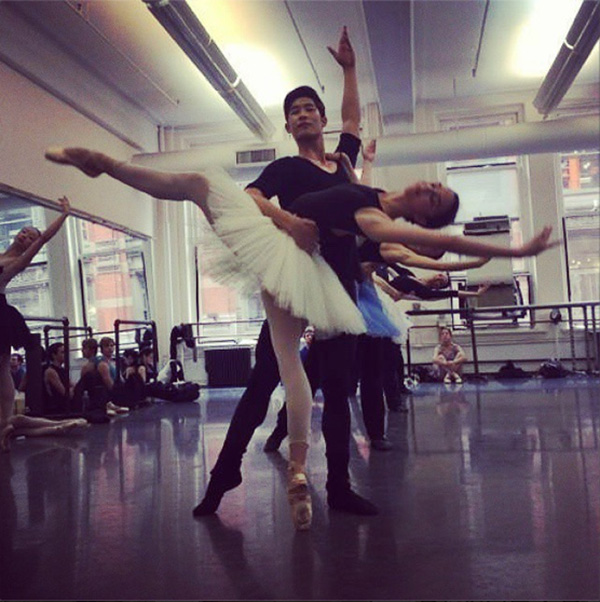 Raymonda rehearsal