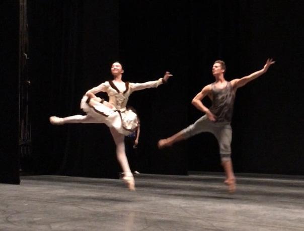 Raymonda rehearsal on stage