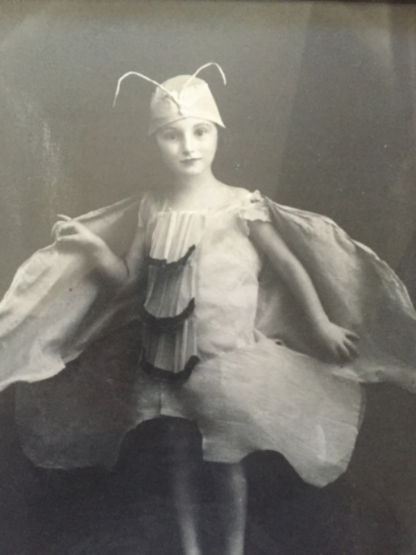 My mom as a child in costume. I am guessing this photo was taken in 1933.