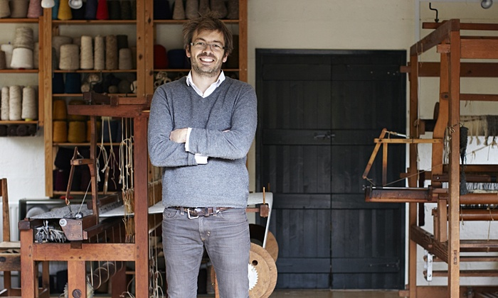Mario Sierra of Mourne Textiles. Photograph: Tara Fisher for The Guardian