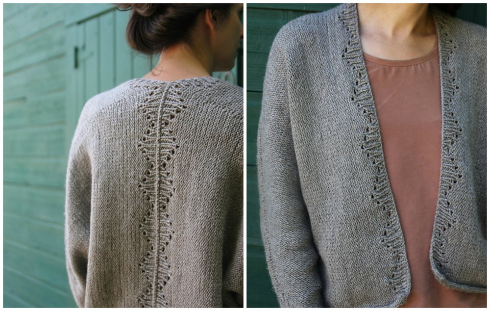 Savage Heart Cardigan by Amy Christoffers, photos by Amy Christoffers.