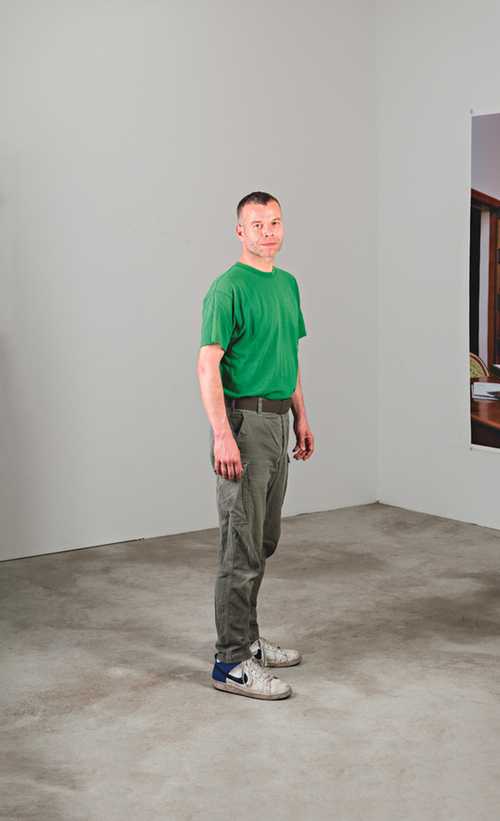 Wolfgang Tillmans in his studio. Photograph by Michael Danner