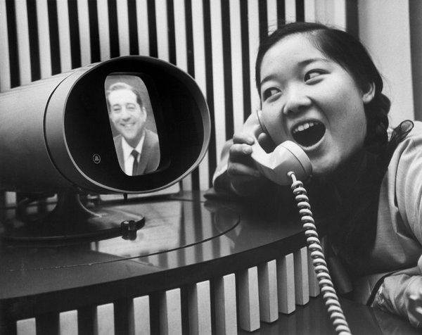 In New York on Dec. 21, 1965, Keum Ja Kim, 15, a soloist with the World Vision Orphan Choir, used the Picturephone to audition for Robert Merrill, a star with the Metropolitan Opera, who was in Washington to sing at the White House. CreditBettmann/Corbis
