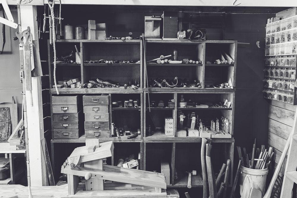 Marnie Hawson's An Honest Trade project - chairmaker Rundell & Rundell, Kyneton