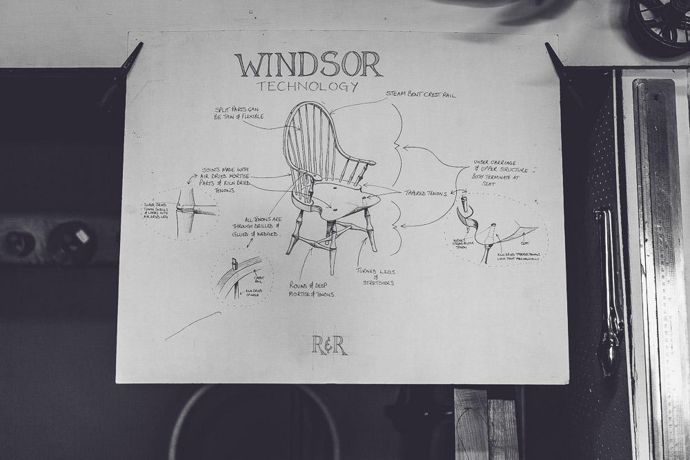 Marnie Hawson's An Honest Trade project - chairmaker Rundell & Rundell, Kyneton (Windor Chair)