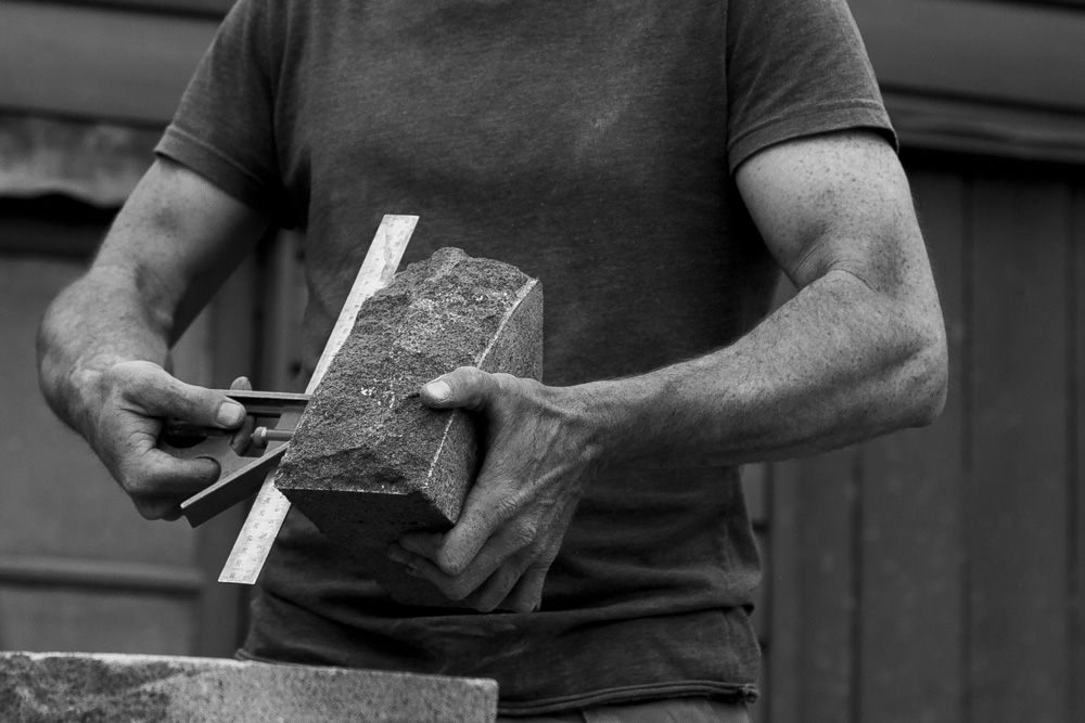 Melbourne lifestyle photographer Marnie Hawson's An Honest Trade project - stonemason
