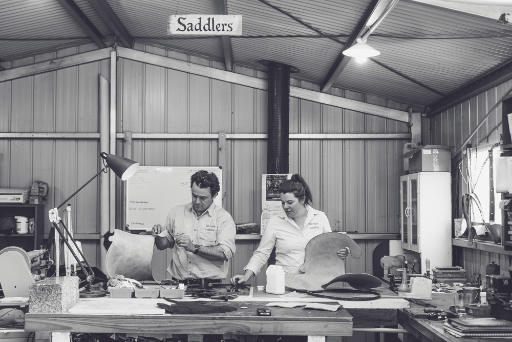 Melbourne lifestyle photographer Marnie Hawson's An Honest Trade project - saddlers Richard and Lucy from Barrack Saddles