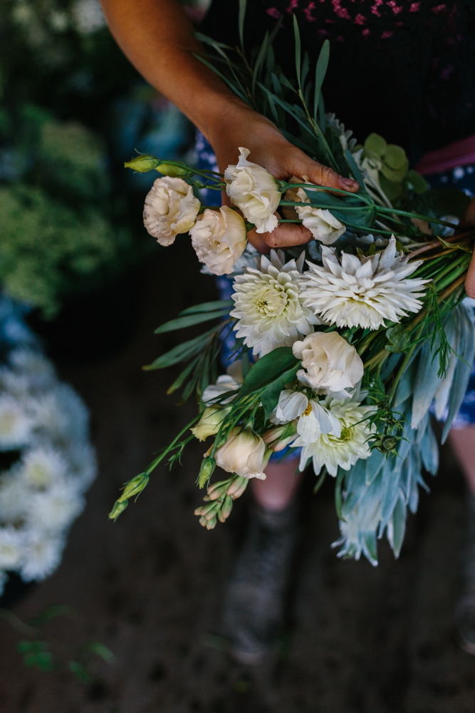 Melbourne lifestyle photographer Marnie Hawson's An Honest Trade project - organic flower grower Lindsey Myra