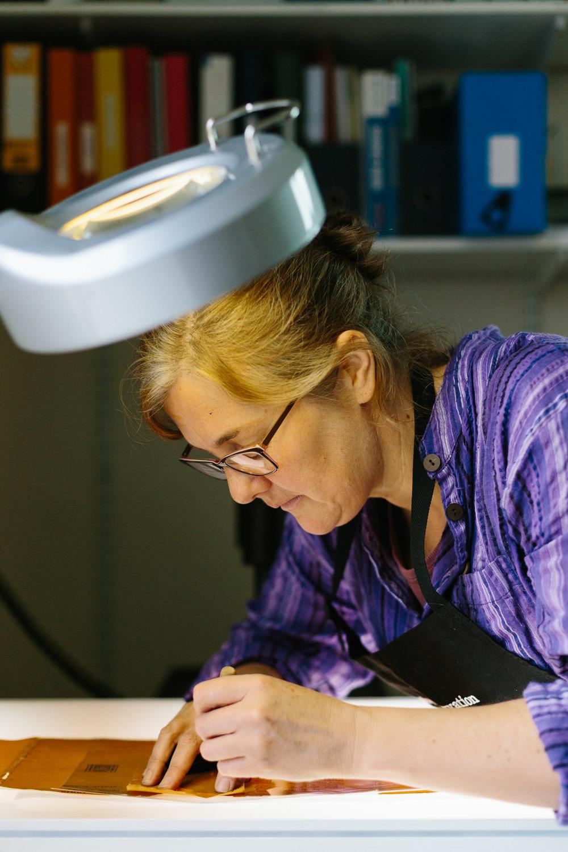 Melbourne lifestyle photographer Marnie Hawson's An Honest Trade project - Karen Vidler of Book Conservation Services
