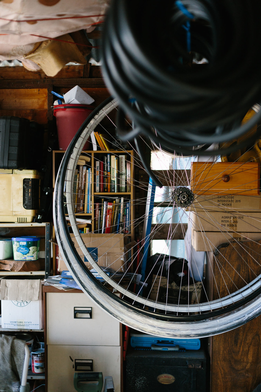 Melbourne lifestyle photographer Marnie Hawson's An Honest Trade project - penny farthing maker Dan Bolwell (aka Penny Farthing Dan)