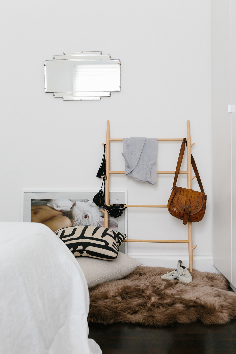 Melbourne lifestyle photographer, Marnie Hawson, for Miss Glass Home (wooden clothes airer)