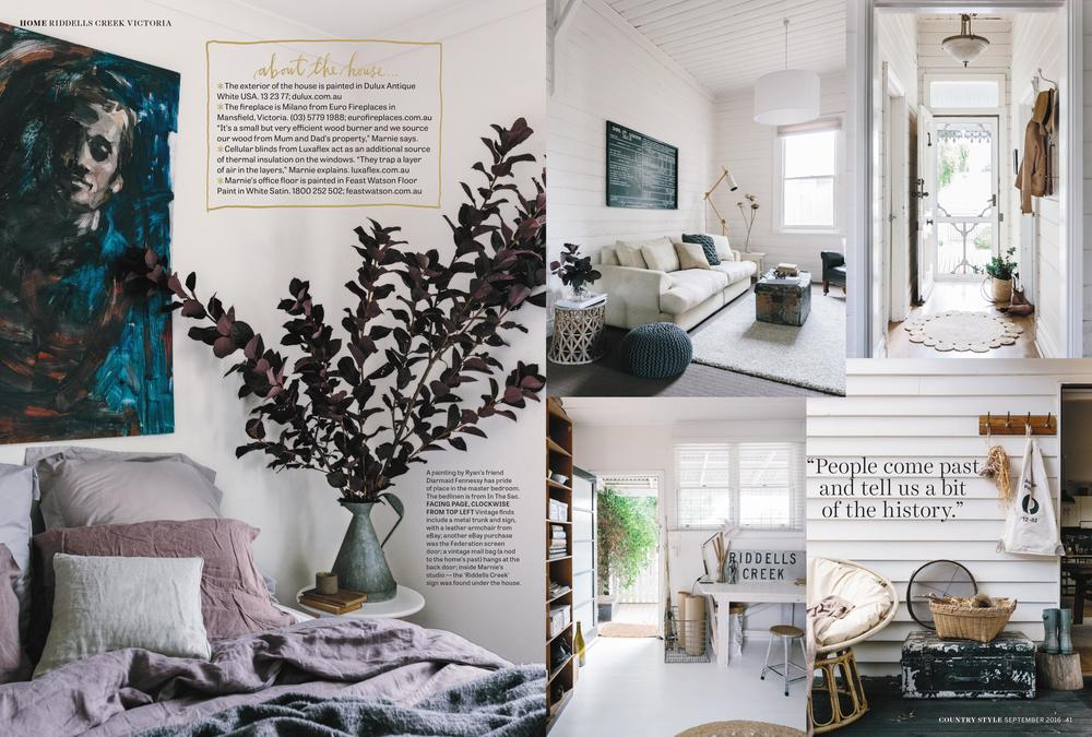 Marnie Hawson, Melbourne interior photographer, for Country Style, September 2016
