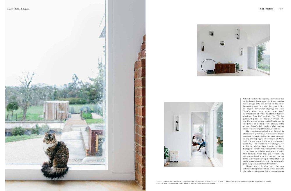 Marnie Hawson, Melbourne interior photographer for Habitus Magazine (A Plot in Common, Lauriston)