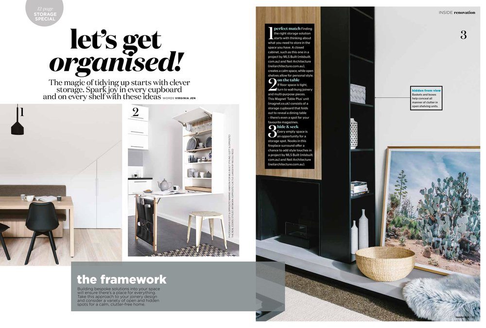 Marnie Hawson for Inside Out magazine, January 2017 and MLS Built