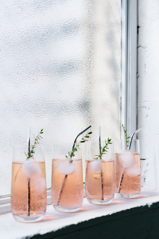 Marnie Hawson for Wood Lane - blueberry and native finger lime sparkling botanical drink