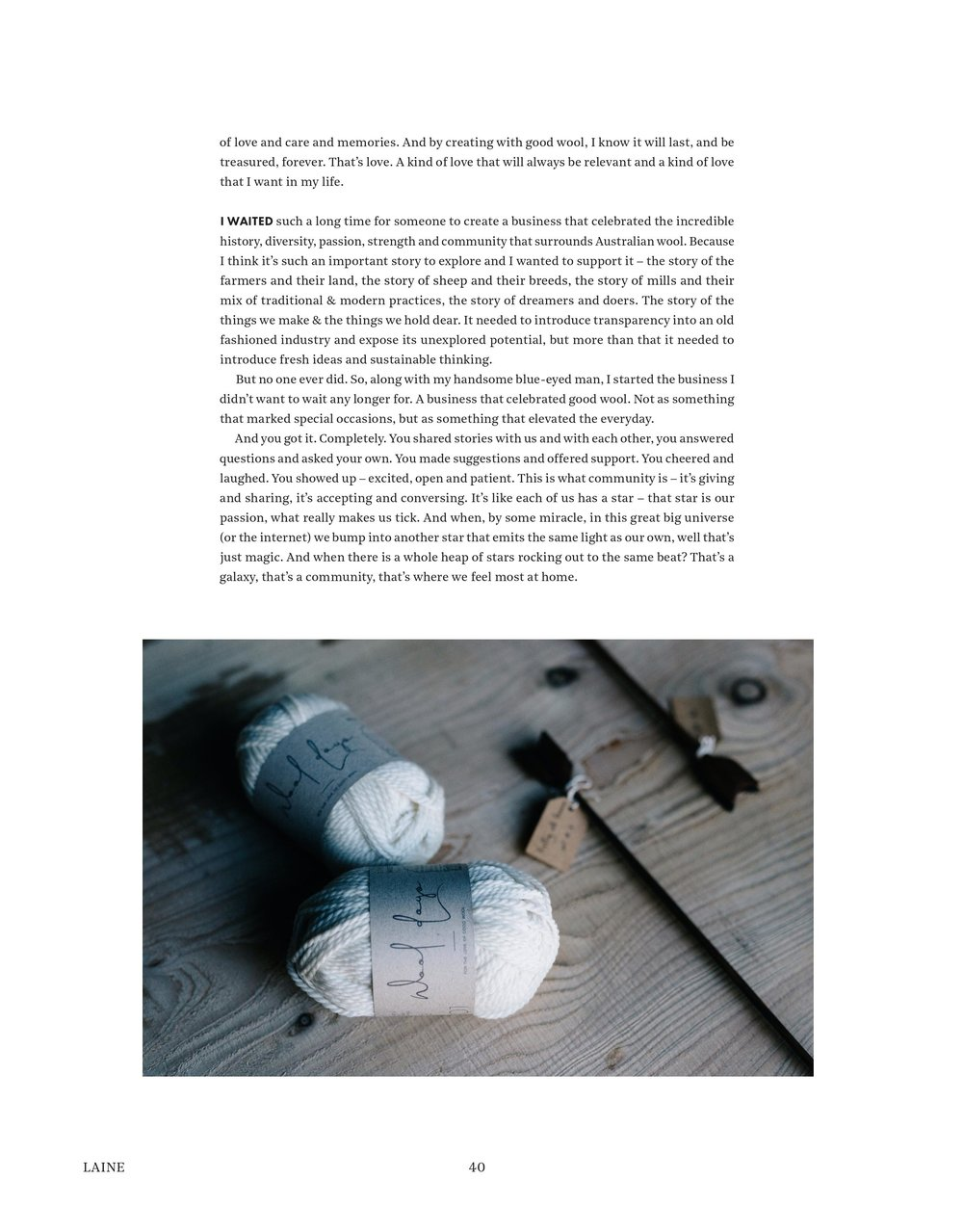 Wool Days and Laine magazine, a nordic knit and lifestyle magazine
